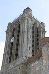 Collégiale Saint-Martin - Deutsch: Ehemalige Kollegiatskirche Saint-Martin in Champeaux (Seine-et-Marne) im Département Seine-et-Marne in der Region Île-de-France (Frankreich), Glockenturm