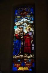 Eglise Saint-Louis - Deutsch:   Bleiglasfenster in der Kirche Saint-Louis in Fontainebleau im Département Seine-et-Marne (Île-de-France), Darstellung: Vermählung von Maria und Joseph