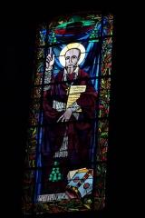 Eglise Saint-Louis - Deutsch:   Bleiglasfenster in der Kirche Saint-Louis in Fontainebleau im Département Seine-et-Marne (Île-de-France), Darstellung: hl.?