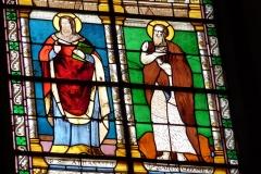 Eglise Saint-Louis - Deutsch:   Bleiglasfenster in der Kirche Saint-Louis in Fontainebleau im Département Seine-et-Marne (Île-de-France), Ausschnitt mit: Athanasius der Große und Hieronymus