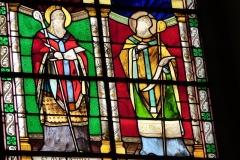 Eglise Saint-Louis - Deutsch:   Bleiglasfenster in der Kirche Saint-Louis in Fontainebleau im Département Seine-et-Marne (Île-de-France), Ausschnitt mit: Augustinus und?