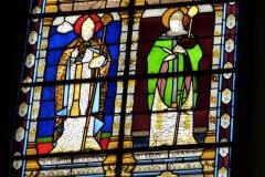 Eglise Saint-Louis - Deutsch:   Bleiglasfenster in der Kirche Saint-Louis in Fontainebleau im Département Seine-et-Marne (Île-de-France), Ausschnitt mit: Gregor der Große und Leo der Große