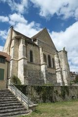 Eglise - Deutsch: Katholische Kirche Notre-Dame et Saint-Laurent in Grez-sur-Loing im Département Seine-et-Marne (Île-de-France/Frankreich), Ostfassade
