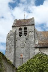 Eglise - Deutsch: Katholische Kirche Notre-Dame et Saint-Laurent in Grez-sur-Loing im Département Seine-et-Marne (Île-de-France/Frankreich), Glockenturm
