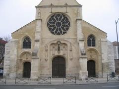Eglise Notre-Dame -  Facade Ouest de la collégiale Notre Dame de Melun.