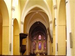Eglise Notre-Dame - Français:   Nef de la collégiale Notre-Dame de Melun