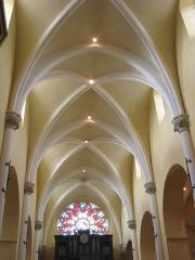 Eglise Notre-Dame -  Le plafond de la collégiale Notre Dame de Melun.