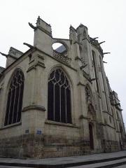Eglise Saint-Aspais - Français:   Chevet de l\'Église Saint-Aspais de Melun (77).