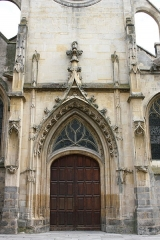Eglise Saint-Aspais - Deutsch:   Katholische Pfarrkirche Saint-Aspais in Melun im Département Seine-et-Marne in der Region Île-de-France (Frankreich), Westportal
