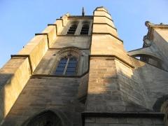 Eglise Saint-Aspais -  Facade Nord-Ouest de l\'église Saint Aspais à Melun.