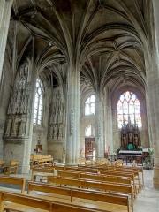Eglise Saint-Aspais - Français:   Collatéral nord, 3e travée, vue vers l\'est.