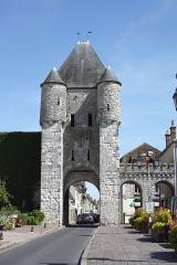 Portes de Paris et de Bourgogne - Deutsch: Porte de Samois in Moret-sur-Loing im Département Seine-et-Marne (Île-de-France)