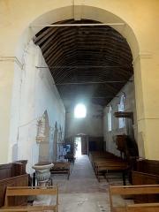 Eglise Saint-Martin - Français:   Intérieur de l\'église - voir titre du fichier.