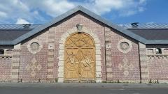 Ferme du Buisson - English: Former door of Buisson's farm in Noisier (Fr)
