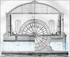 Bâtiments de la machine de Marly (également sur commune de Louveciennes) - English: Machine of Marly. Detail of the machine of Dufrayer.