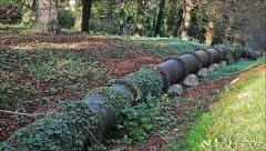 Bâtiments de la machine de Marly (également sur commune de Louveciennes) - English: Marly Machines. Piping in cast iron on the hill of Bougival.