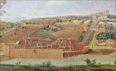 Bâtiments de la machine de Marly (également sur commune de Louveciennes) - English: Marly Machines. View of the first Machine.