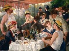 Restaurant Fournaise, dans l'île des Impressionnistes (ancienne île du Chiard) - English: The Boating Party Lunch by Pierre-Auguste Renoir