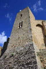 Château de la Madeleine (ruines) - English: Tower of Castle Madeleine in Chevreuse, France