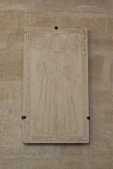 Eglise Saint-Léonard et Saint-Martin - Deutsch: Katholische Kapelle Saint-Léonard, ehemalige Pfarrkirche, in Croissy-sur-Seine im Département Yvelines (Île-de-France/Frankreich), Grabplatte für François-Louis de Patrocles († 1651)