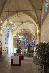 Eglise Saint-Léonard et Saint-Martin - Deutsch: Katholische Kapelle Saint-Léonard, ehemalige Pfarrkirche, in Croissy-sur-Seine im Département Yvelines (Île-de-France/Frankreich), Innenraum