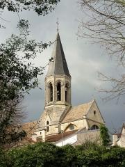 Eglise Saint-Martin -  Vue depuis le parc des Trois-Grilles.