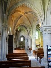 Eglise Saint-Etienne et ses abords - Français:   Intérieur de l\'église - voir titre.