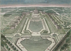 Domaine national de Marly - English: View of the Château and park of Marly by an unknown artist