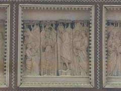 Abbaye - English: Poissy's reredo - Baptism of Jesus-Christ. Louvre museum (Paris, France).