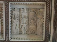 Abbaye - English: Poissy's reredo - Martyrdom of Saint John the Evangelist. Louvre museum (Paris, France).