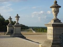Restes du château Neuf -  Terrasse du château de Saint-Germain-en-Laye, vue en enfilade depuis Saint-Germain vers Maisons-Laffitte.