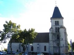Eglise -  Église de Saint-Nom-la-Bretèche (Yvelines, France), face nord