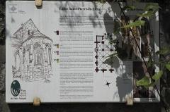 Eglise Saint-Pierre-aux-Liens - Deutsch: Katholische Pfarrkirche Saint-Pierre-aux-Liens (St. Petrus in Ketten) in Vaux-sur-Seine im Département Yvelines (Île-de-France/Frankreich), Erklärungstafel