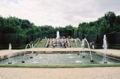 Domaine national de Versailles - Français:   Bassin au coquillages, dans l\'allée d\'eau menant au bassin de Neptune.