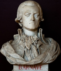 Domaine national : Salle du Jeu de Paume -  Buste de Antoine-Pierre-Joseph-Marie Barnave -- Salle du serment du jeu de paume -- Versailles