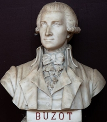 Domaine national : Salle du Jeu de Paume -  Buste de François Nicolas Léonard Buzot -- Salle du serment du jeu de paume -- Versailles