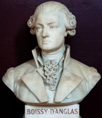 Domaine national : Salle du Jeu de Paume -  Buste de François-Antoine de Boissy d'Anglas -- Salle du serment du jeu de paume -- Versailles