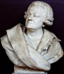 Domaine national : Salle du Jeu de Paume -  Henri-Frédéric Iselin (1825-1905), Honoré Gabriel Riqueti de Mirabeau, buste en marbre, Versailles, salle du Jeu de paume.