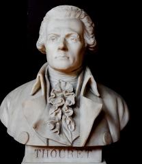 Domaine national : Salle du Jeu de Paume -  Buste de Jacques-Guillaume Thouret -- Salle du serment du jeu de paume -- Versailles