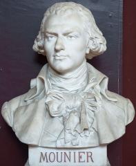 Domaine national : Salle du Jeu de Paume -  Buste de Jean-Joseph Mounier -- Salle du serment du jeu de paume -- Versailles