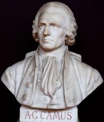 Domaine national : Salle du Jeu de Paume -  Buste de Armand-Gaston Camus -- Salle du serment du jeu de paume -- Versailles
