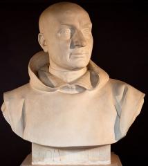Domaine national : Salle du Jeu de Paume -  Buste de Christophe Antoine Gerle - dit dom Gerle -- Salle du serment du jeu de paume -- Versailles