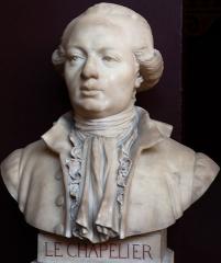 Domaine national : Salle du Jeu de Paume -  Buste de Isaac-René-Guy Le Chapelier -- Salle du serment du jeu de paume -- Versailles