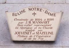 Eglise Notre-Dame -  Panneau d'information de l'église Notre-Dame de Versailles (Yvelines, France)