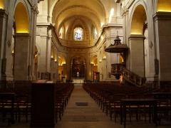 Eglise Notre-Dame -  Nef de l'église Notre-Dame de Versailles (78).