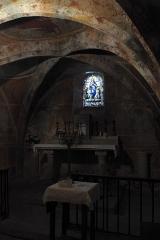 Eglise Notre-Dame-de-l'Assomption - Deutsch: Katholische Pfarrkirche Notre-Dame-de-l'Assomption (Mariä Himmelfahrt) in Boigneville im Département Essonne (Île-de-France/Frankreich), Krypta