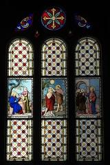 Eglise Saint-Médard - Deutsch: Bleiglasfenster in der katholischen Pfarrkirche Saint-Médard in Brunoy im Département Essonne (Île-de-France/Frankreich), zwischen 1885 und 1896 von Émile Hirsch ausgeführt