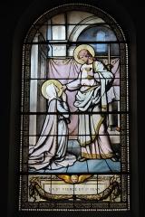Eglise Saint-Médard - Deutsch: Bleiglasfenster in der katholischen Pfarrkirche Saint-Médard in Brunoy im Département Essonne (Île-de-France/Frankreich), zwischen 1885 und 1896 von Émile Hirsch ausgeführt; mit der Signatur: E. HIRSCH 1887