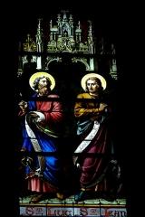 Eglise Saint-Etienne - Deutsch: Bleiglasfenster in der Kirche Saint-Étienne in Étréchy im Département Essonne (Île-de-France), Darstellung: Evangelist Lukas und Johannes