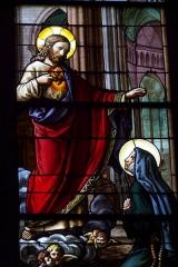 Eglise Saint-Etienne - Deutsch: Bleiglasfenster in der Kirche Saint-Étienne in Étréchy im Département Essonne (Île-de-France), Darstellung: Margareta Maria Alacoque